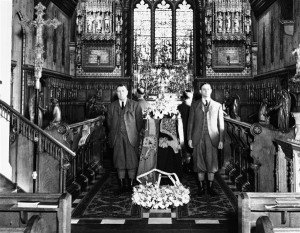 George VI, guarded by Estate Workers Sandringham Church